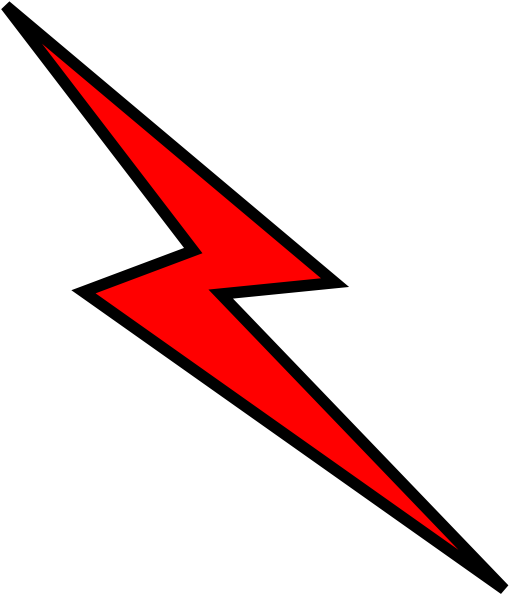 Red lightning bolt png. Collection of clipart