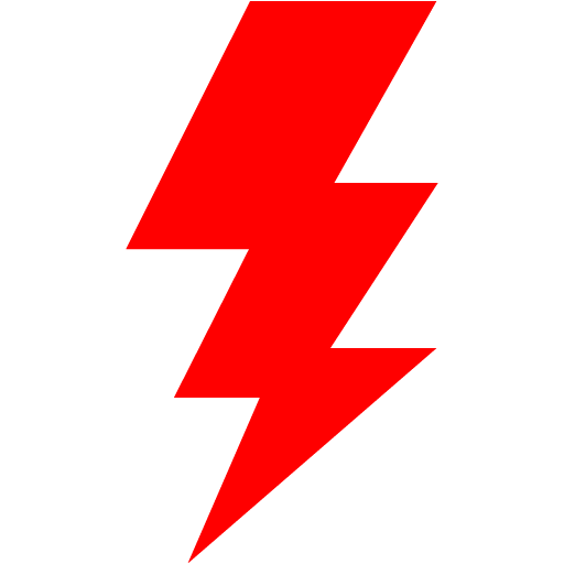 Red lightning bolt png. Icon free icons