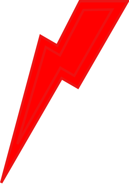 Red lightning png. Bolt clip art at