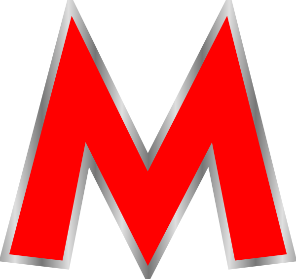 Red m png. Clip art at clker