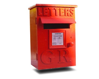 Red mailbox on post png.