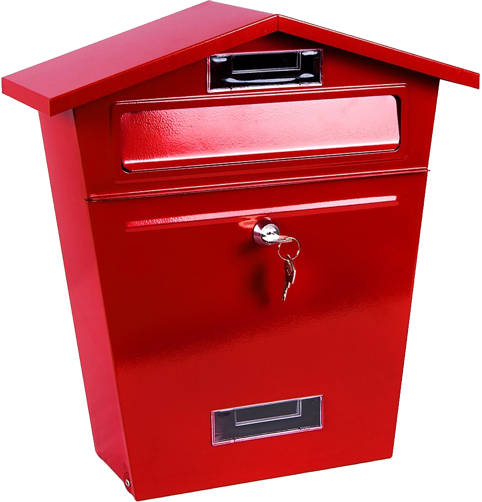 Red mailbox on post png. Image purepng free transparent