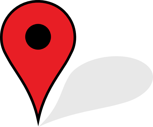 Red map pin png. With shadow transparent stickpng