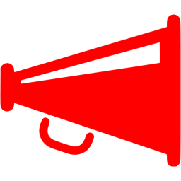 Red megaphone png. Icon free icons