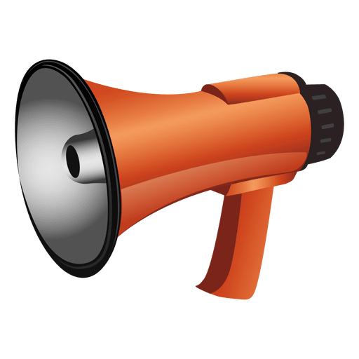 Red megaphone png. Glossy transparent svg vector