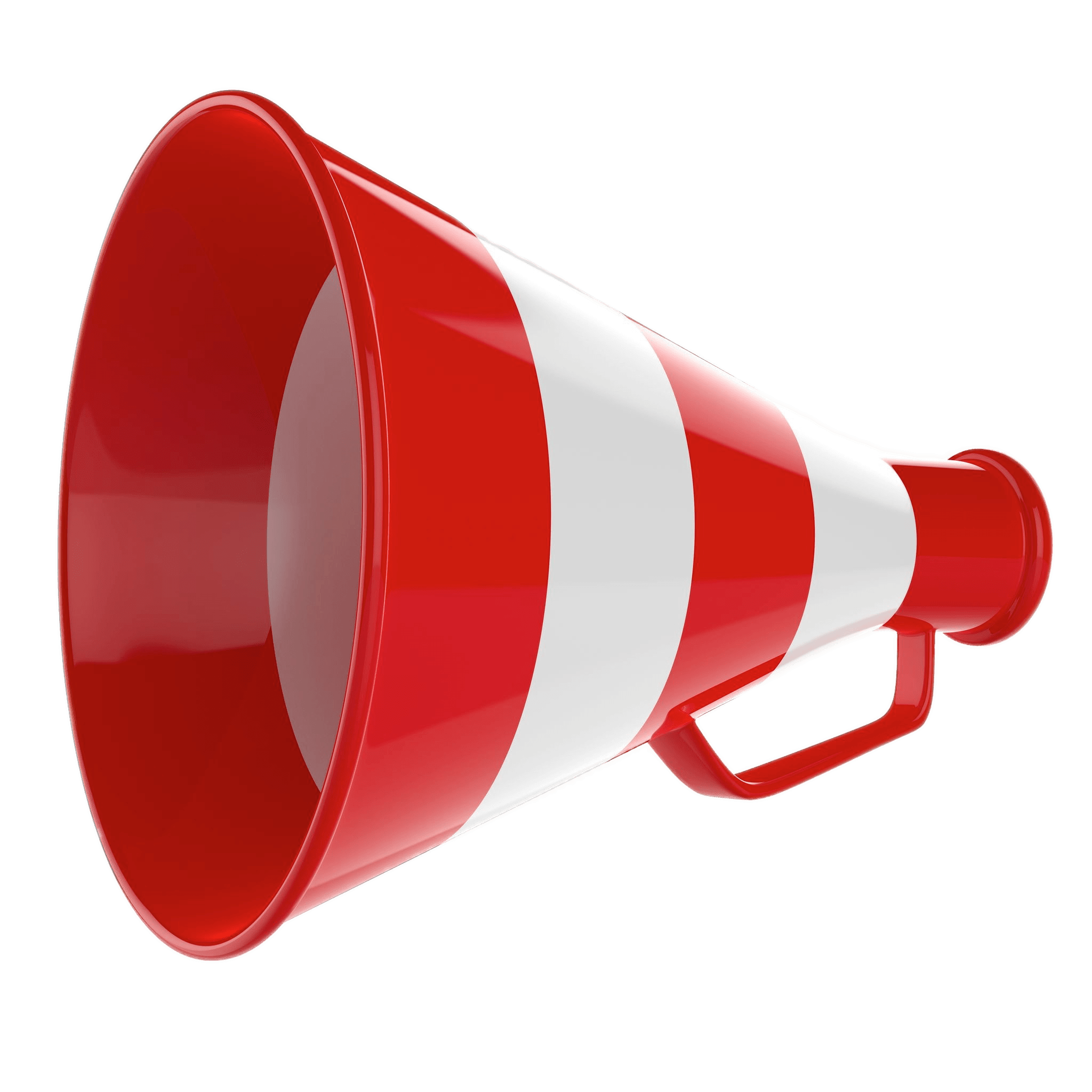 Red megaphone png. And white striped transparent
