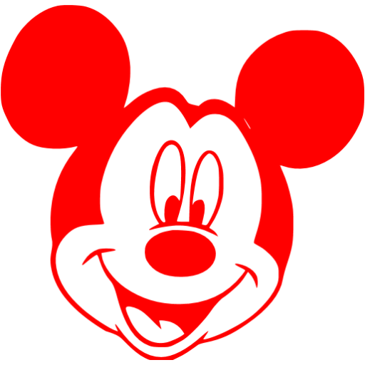 Red mickey png. Mouse icon library free