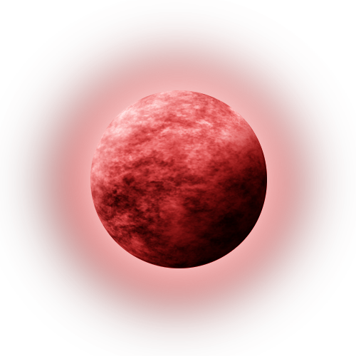 Red moon png. Stock with glow by