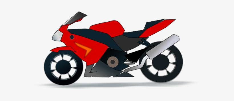 Red motorcycle. Clipart motorbike clip art