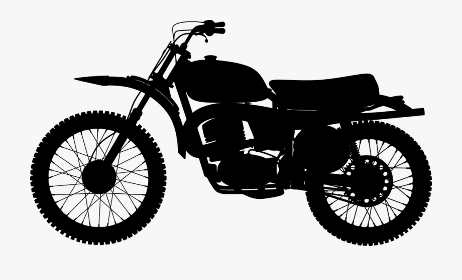 Red motorcycle. Clipart ashtray on a