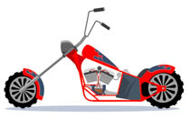 Red motorcycle. Free clipart clip art