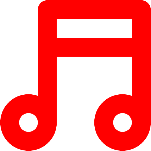 Red music note png. Icon free icons