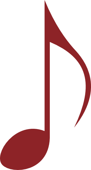 Red music note png. Clip art at clker