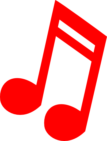 Red music notes png. Note clip art at