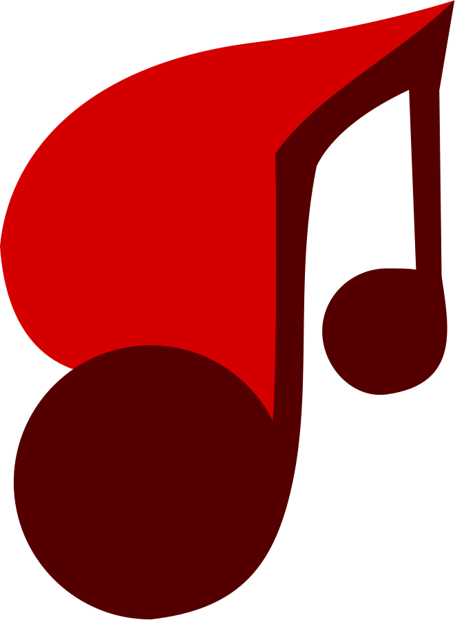 Music note clipart red. Free art download clip