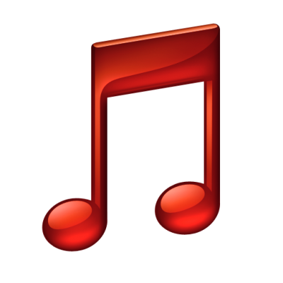 red music note png