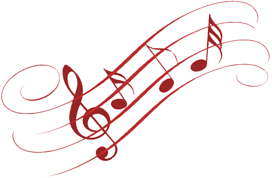 Musical notes red png. Youth music symphony