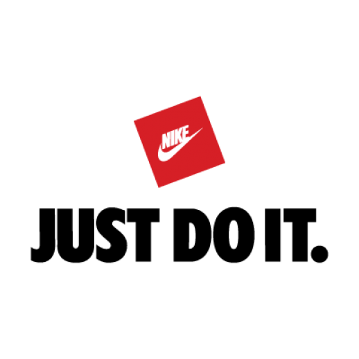 transparent nikes slogan