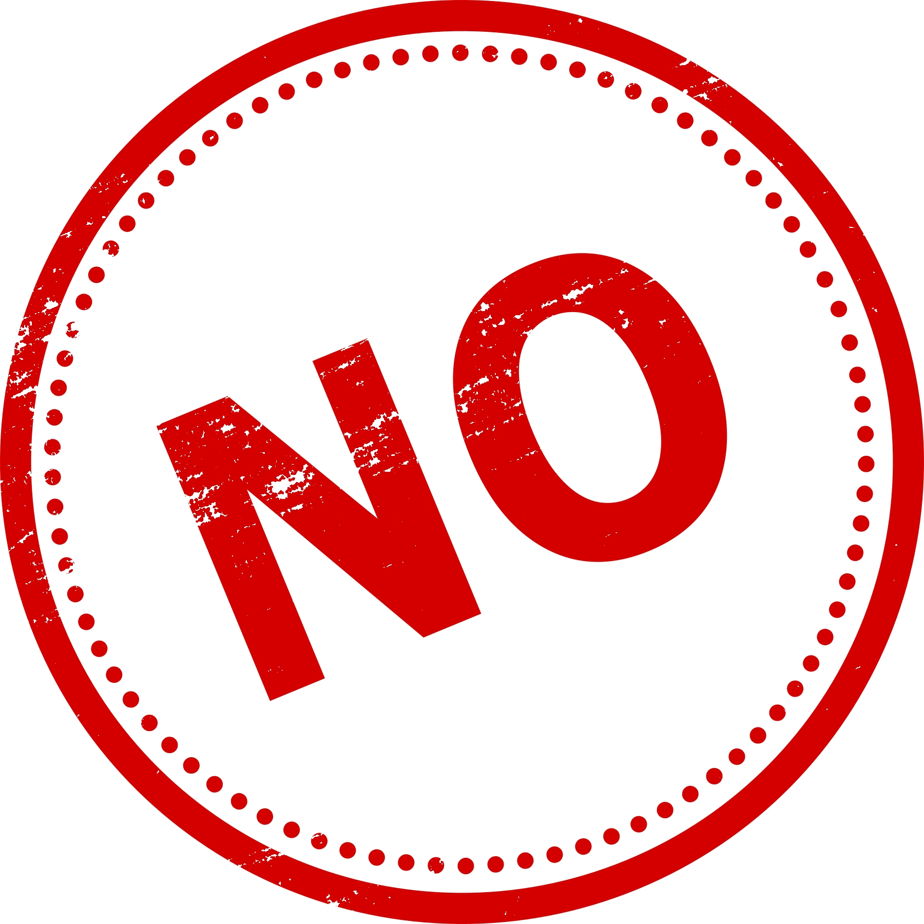 Red no png. Yes stamp transparent