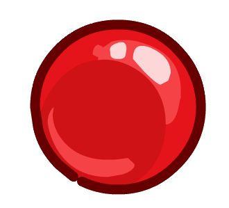 Red nose png. Clipart with a transparent