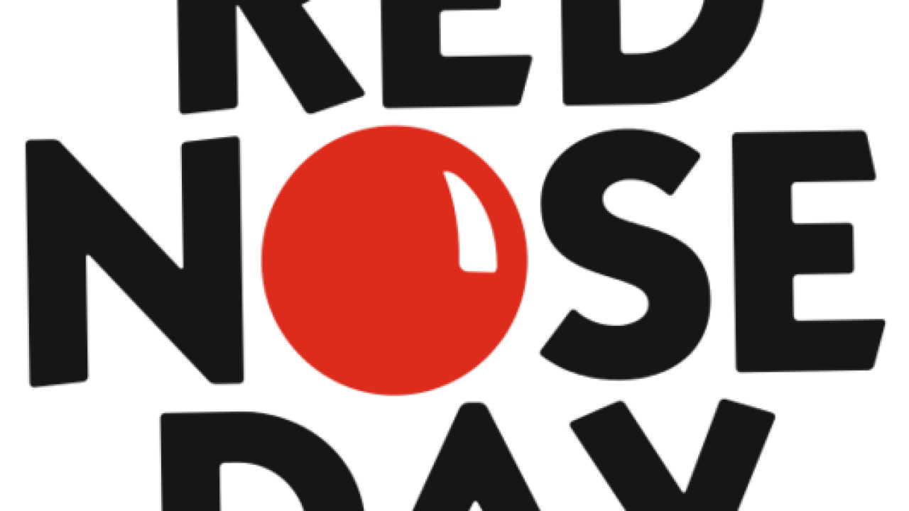 Red nose day png. Raising money for kids