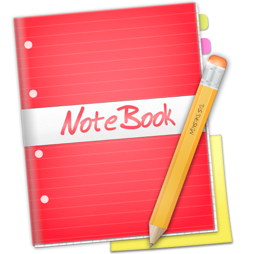 Notebook transparent cartoon. Red icon free download