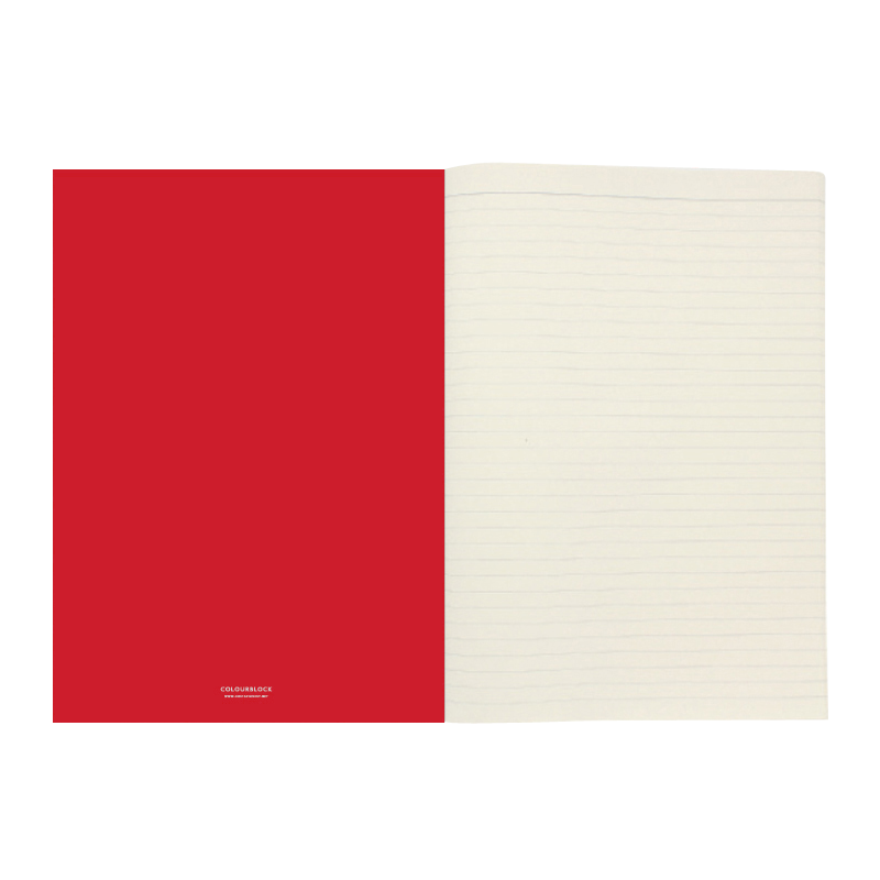 Red notebook png. Go stationery colourblock white