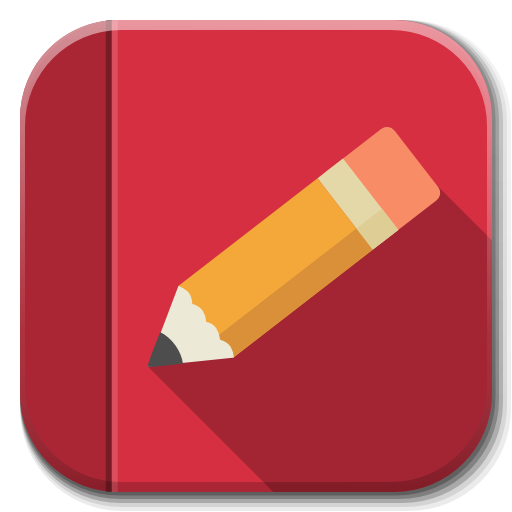 Red notebook png. Apps rednotebook icon flatwoken