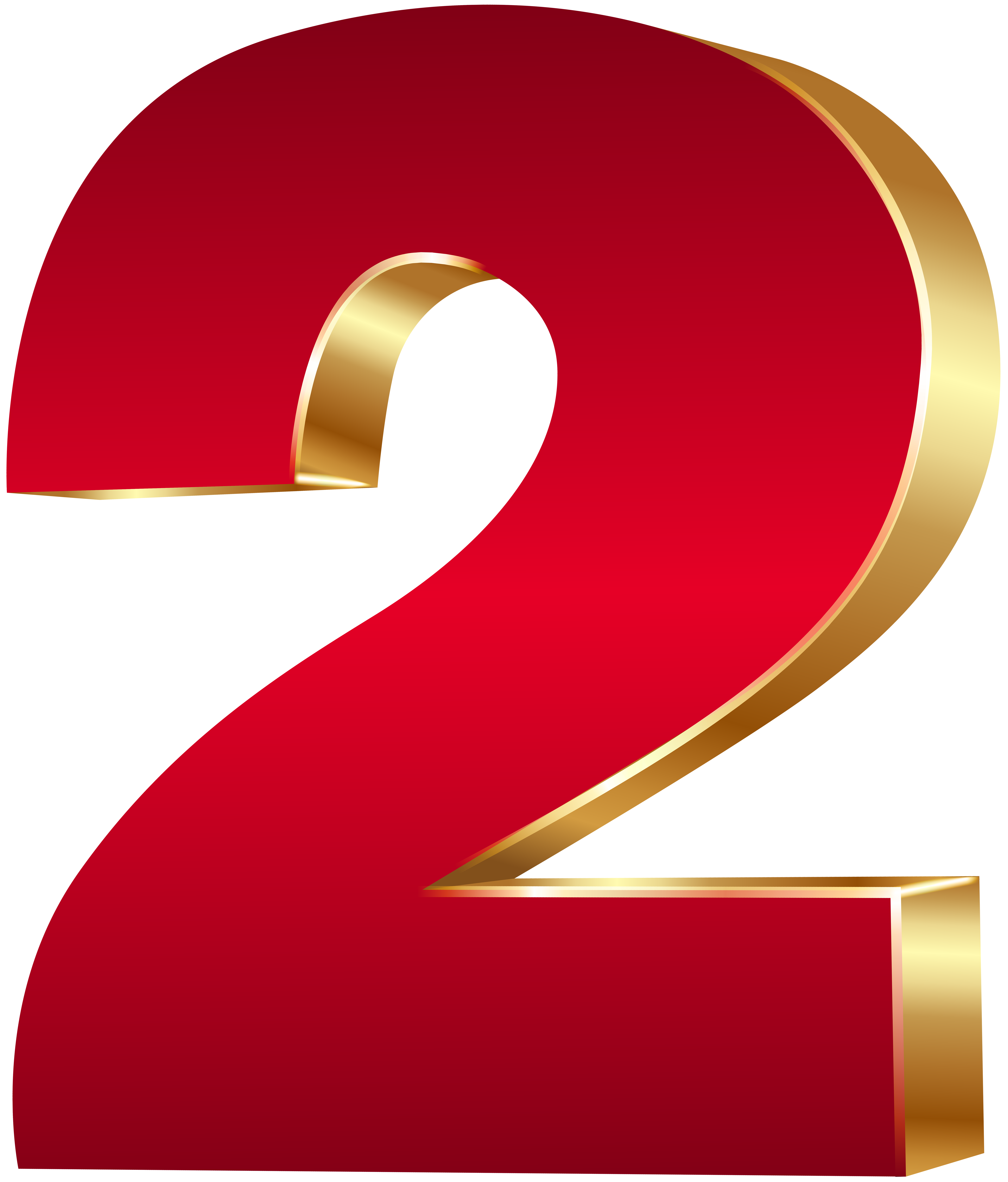 Red numbers png. D number two