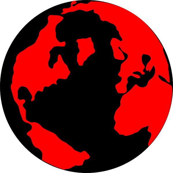 Red on Black. And globe clip art