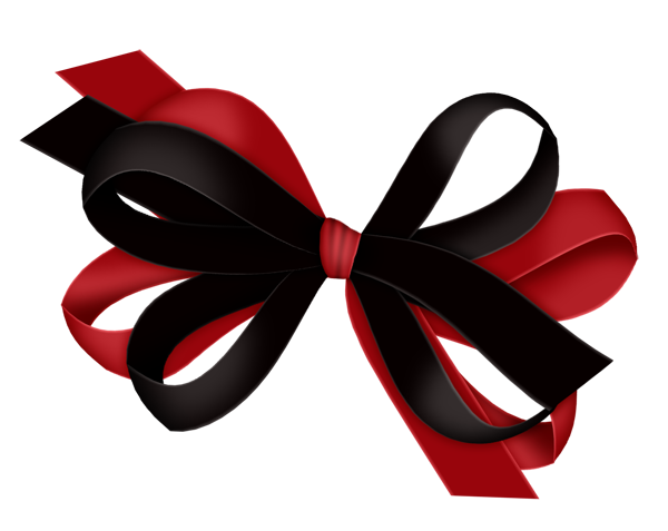 Red on Black. And bow clipart gallery