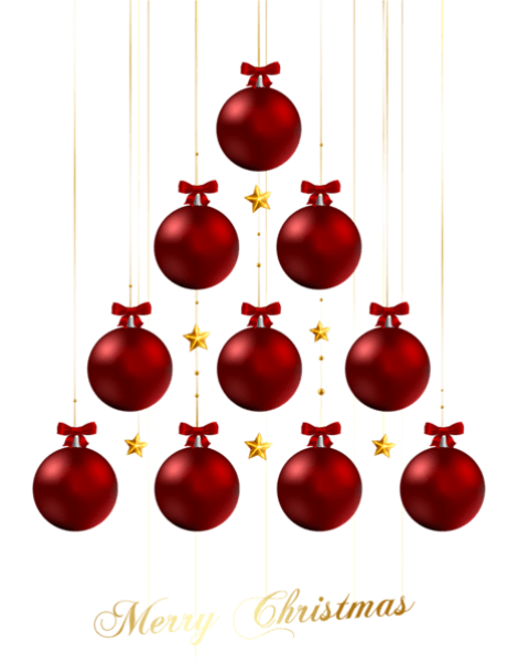 Red ornaments png. Transparent merry christmas free
