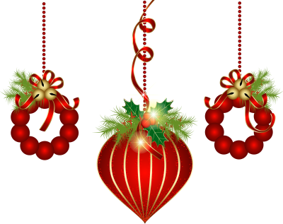 Red ornaments png. Transparent christmas clipart dlpng