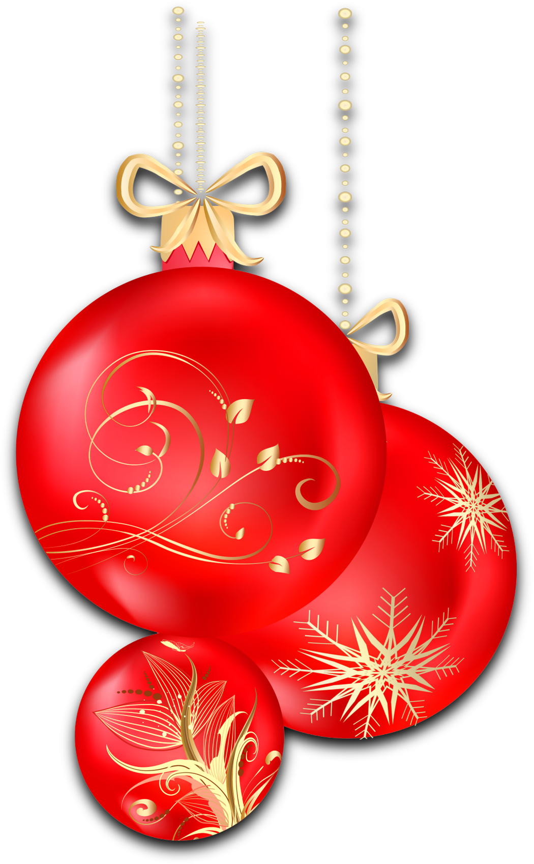 Red ornaments png. Christmas transparent clipart gallery