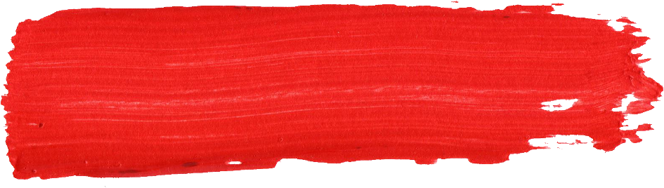 Red paint png. Brush stroke transparent