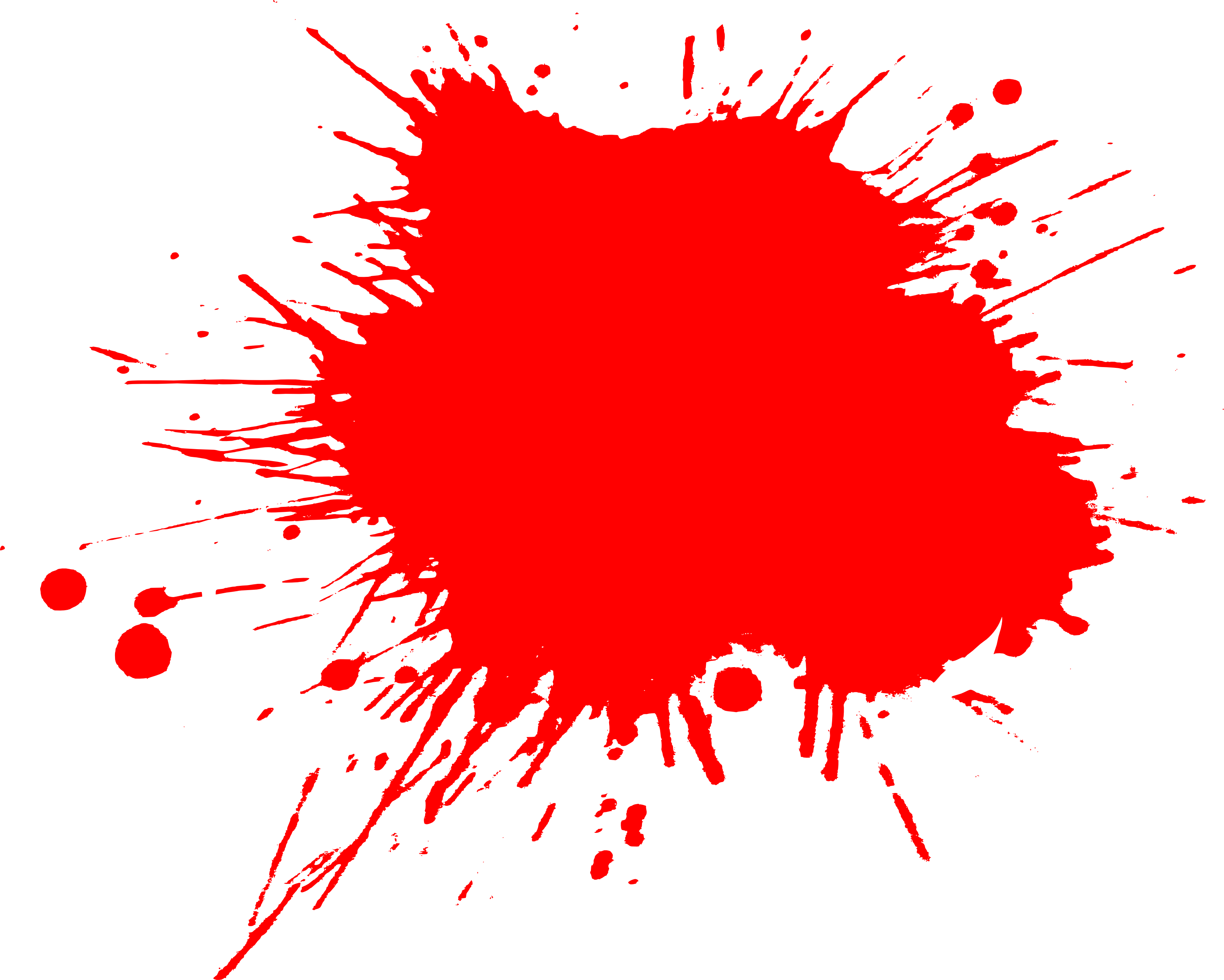 Red paint splat png. Splatter cut out transparentpng