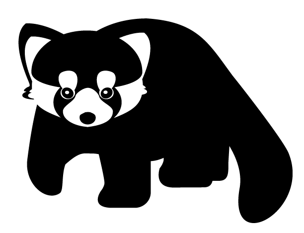 Red panda silhouette png. Collection of drawing