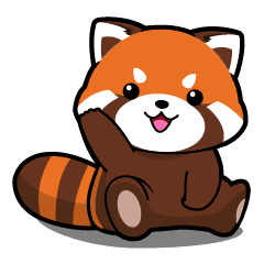 Red panda png. Kurimo lesser line stickers