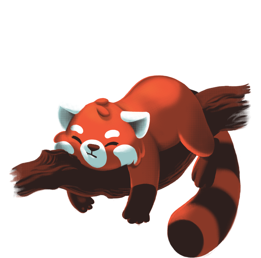 Red panda png. Day tee fury llc