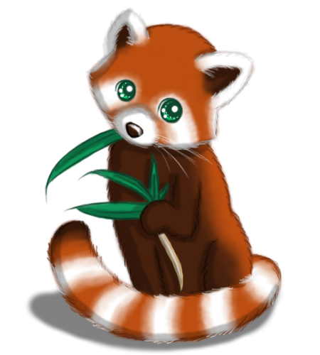 Red panda silhouette png. Cute illustration google search