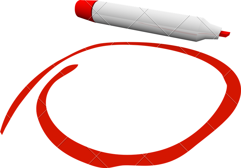 Red pen circle png. Marker photos by canva