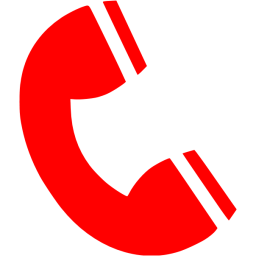 Telephone transparent red. Icon png image