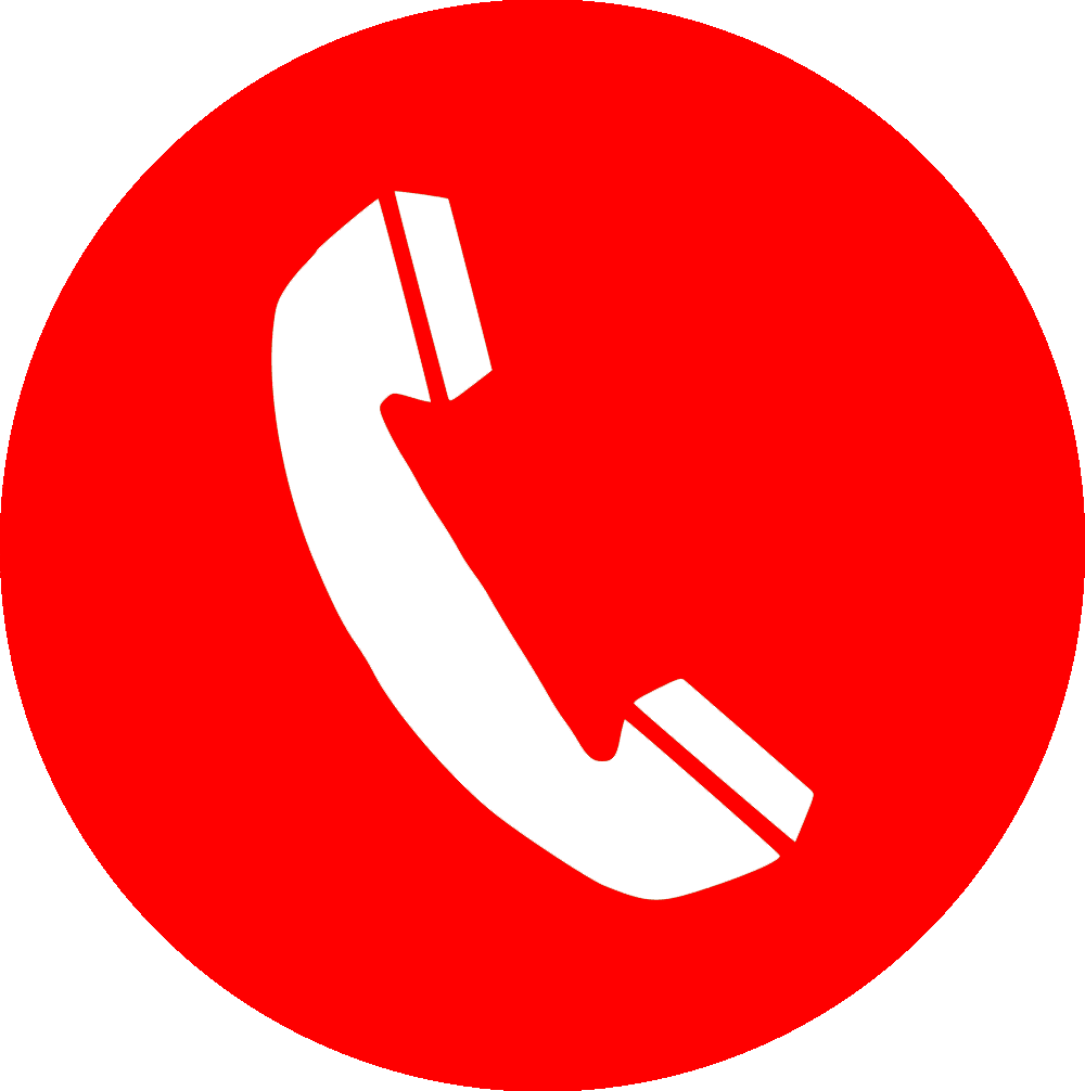 Red phone icon png. Telephone call button computer