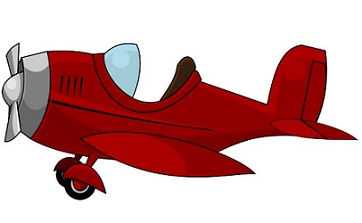 Red plane. Free airplane cliparts download