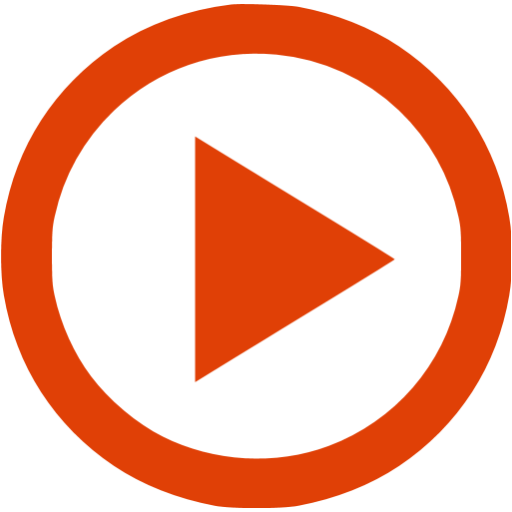 Red play button png. Video icons vector free