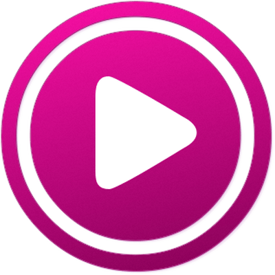 Pink youtube icon png. Play red button transparent
