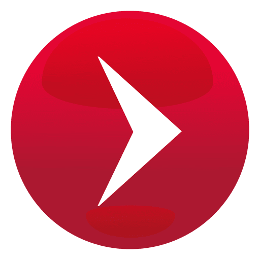 Red play button png. Round transparent svg vector