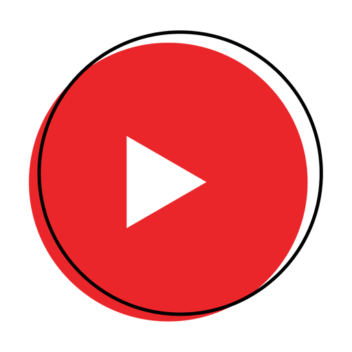 Red play button png. Icon transparent svg vector