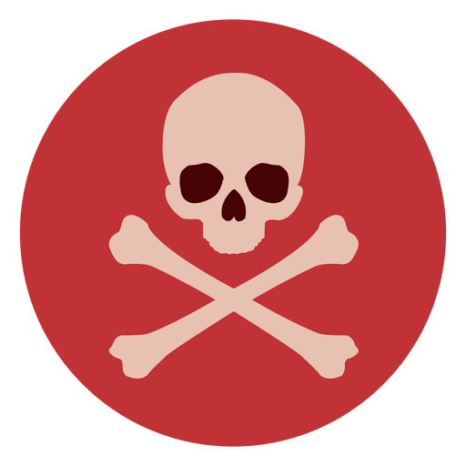 Red png circle. Skull bones icon transparent