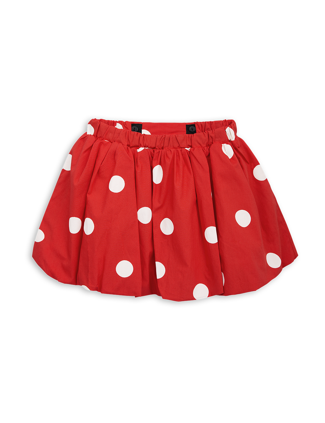 Red polka dots png. Balloon skirt in mini